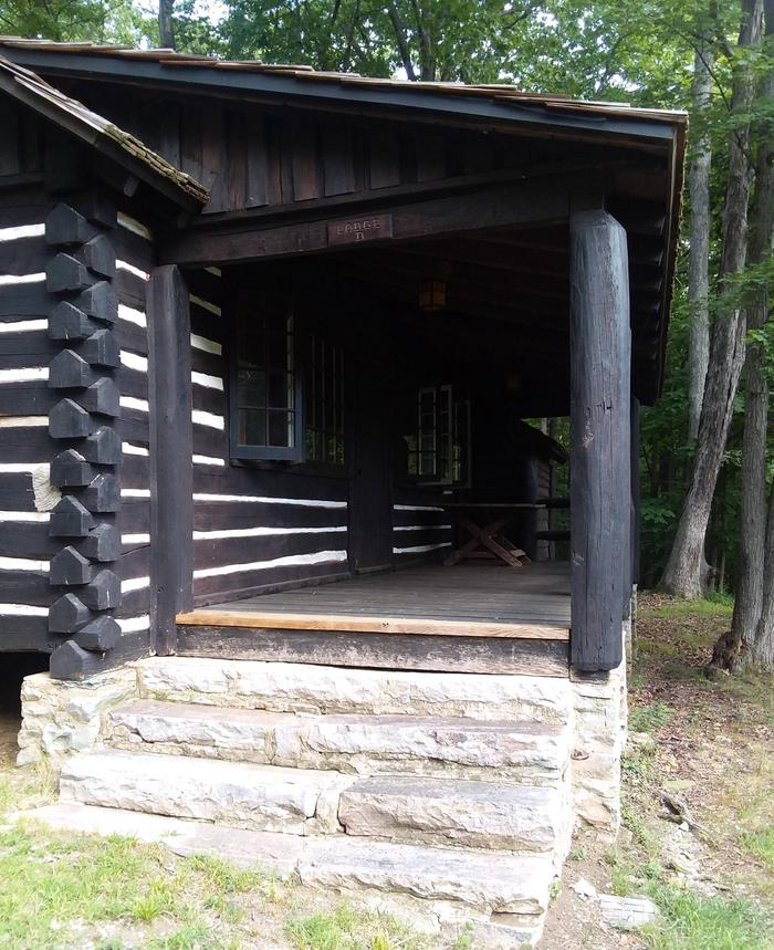 Camp Misty Mount Lodge 42 back porch