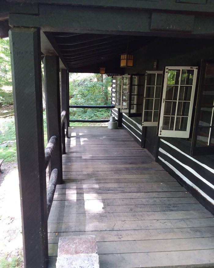 Camp Misty Mount Lodge 32 Front Porch