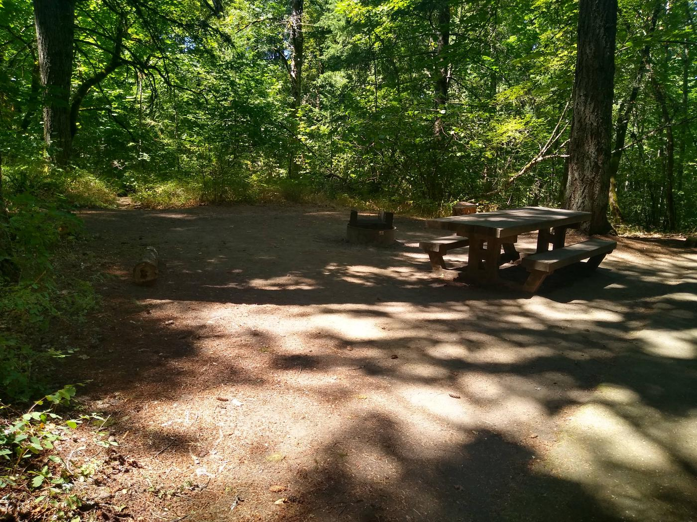 Tentpad, Fire ring, TableSite #2-Wyeth Campground