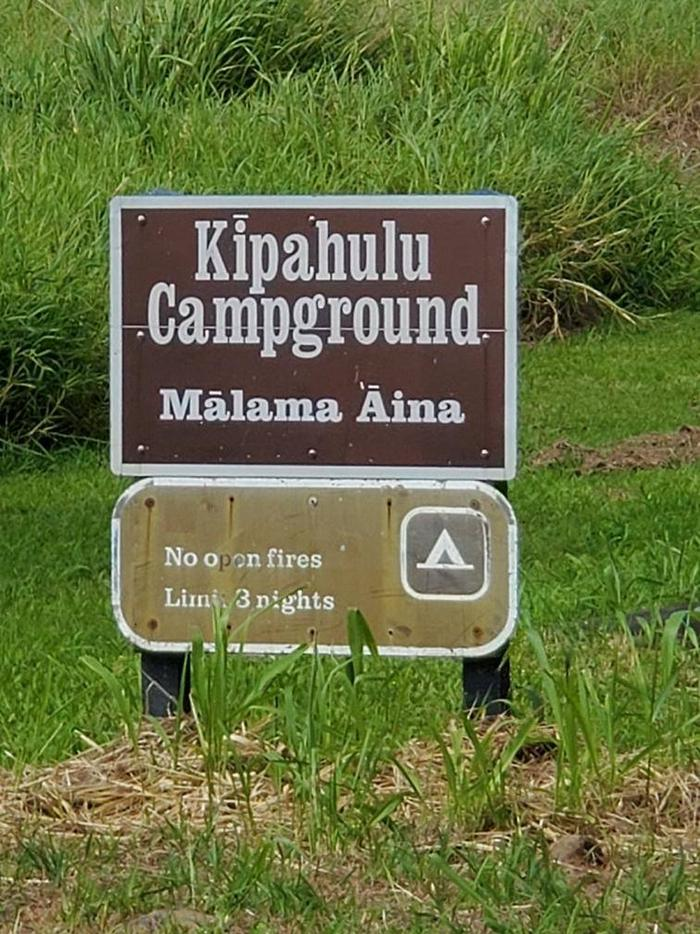 Entering the campgroundKipahulu campground, take care of your site and no fires