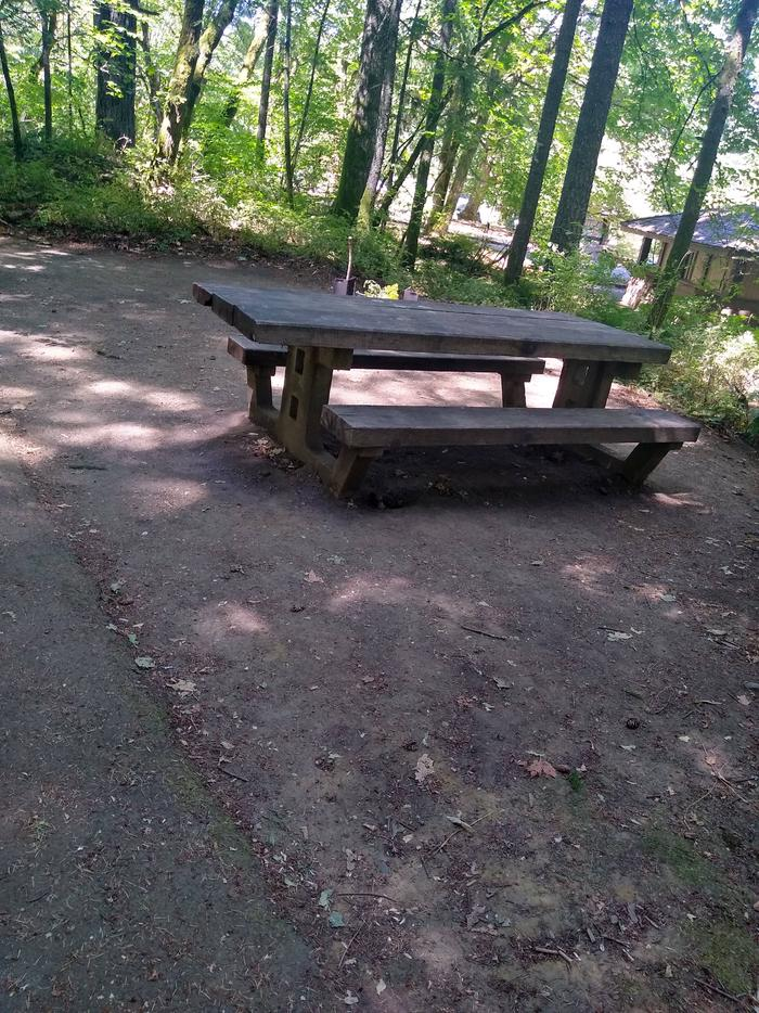 Table in front of TentpadSite #7-Wyeth Campground