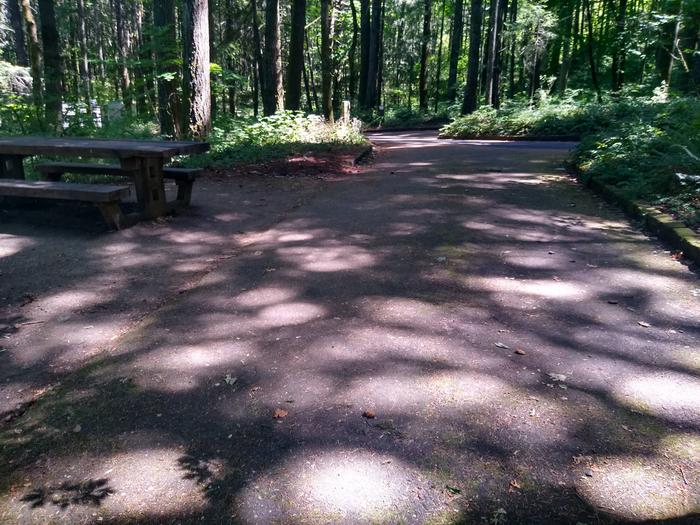 Table and DrivewaySite #7-Wyeth Campground