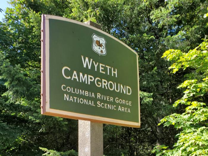 Wyeth Campground Site SignSign at the entrance to Wyeth Campground