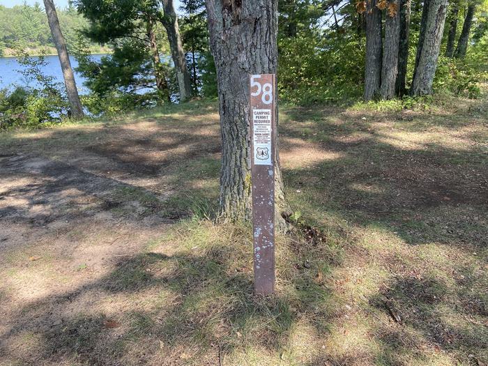 Carsonite sign site 58