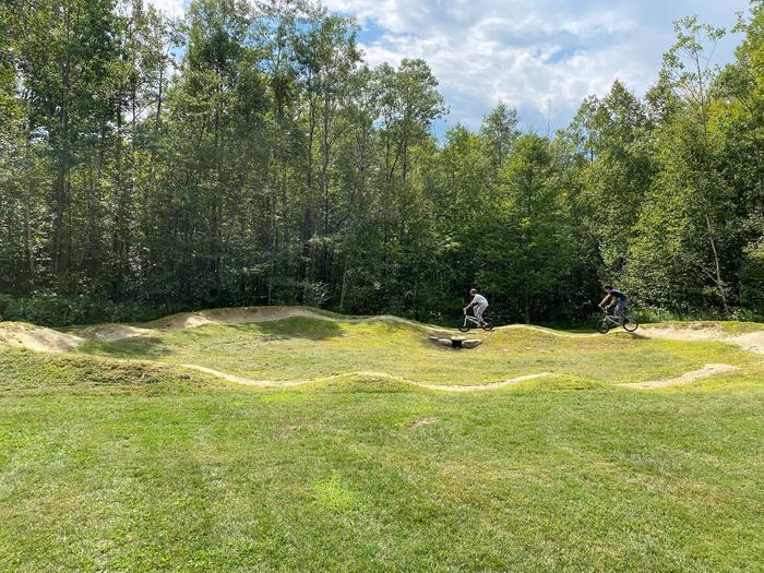 Bike Pump Track at recreation fieldBike Pump Track