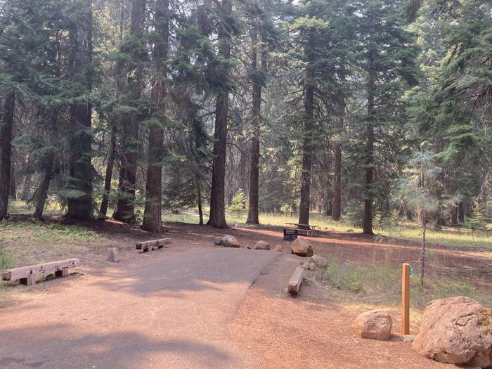 Campsite B 22View from road of campsite B22- Hyatt Lake