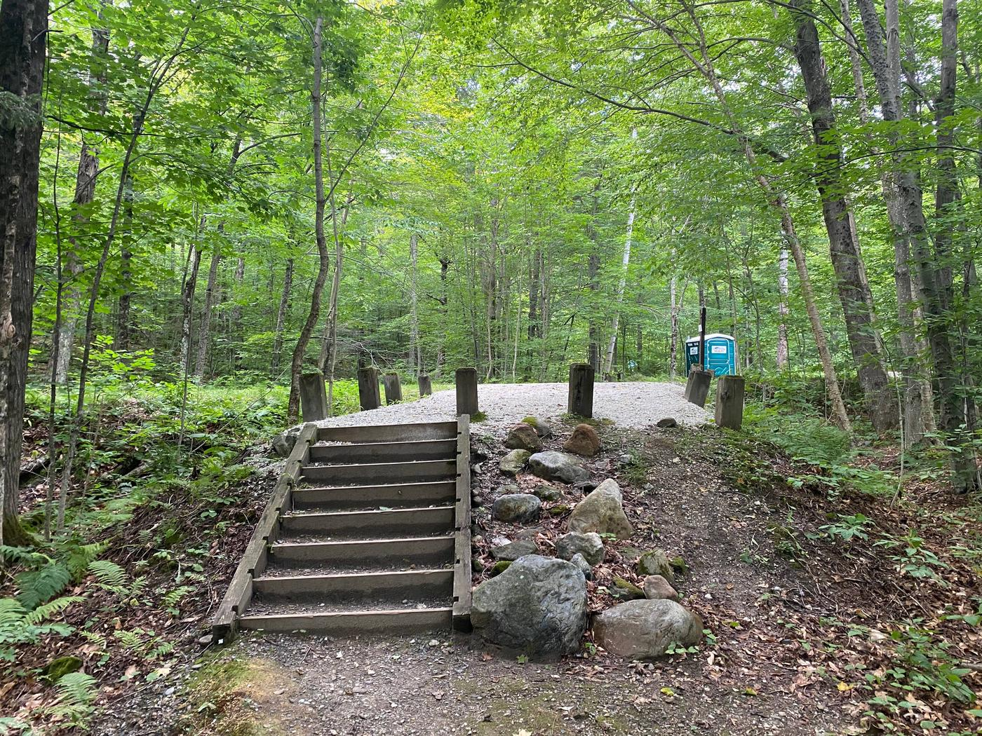 Campsite 1 stairsSite 1