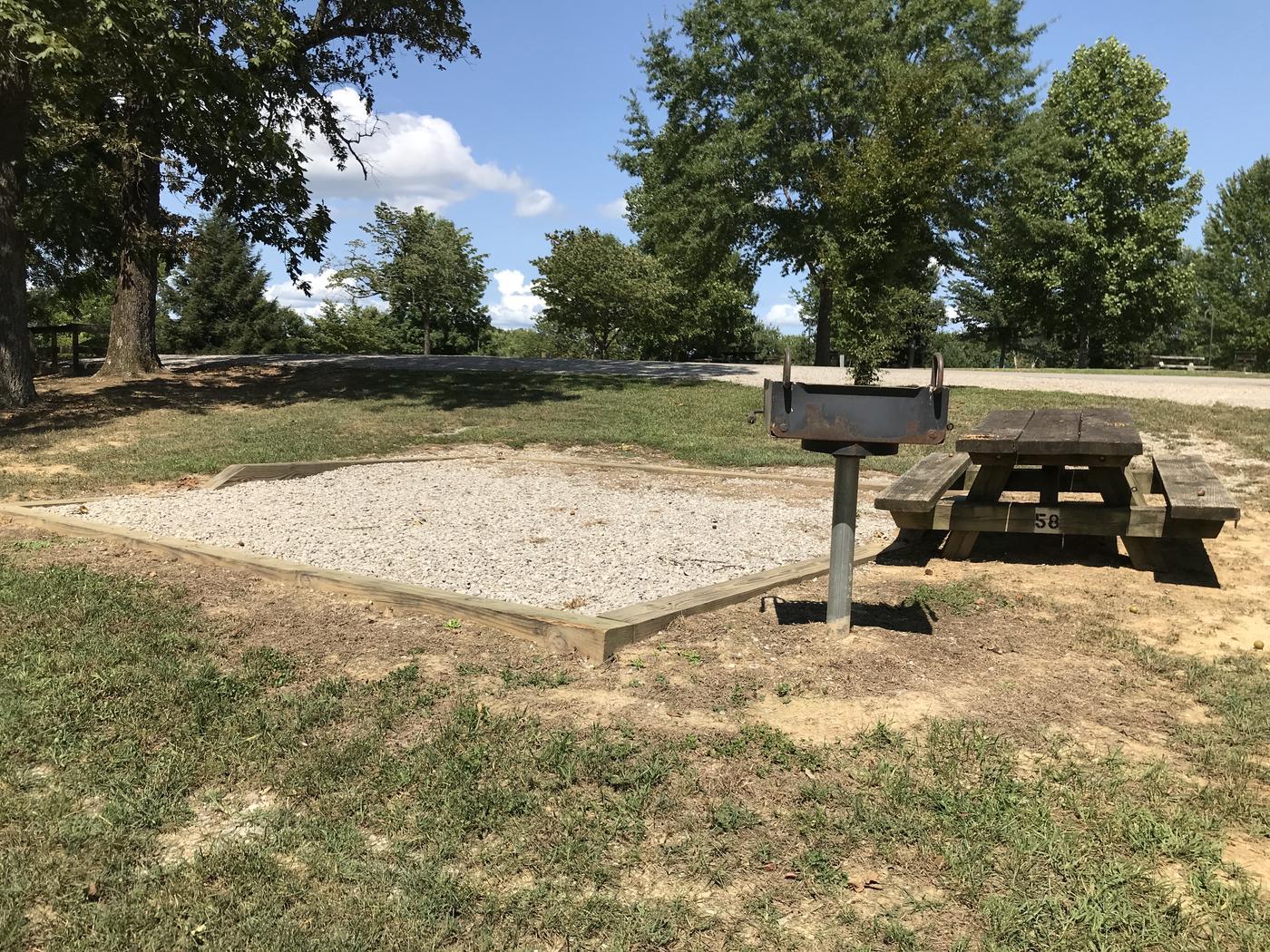 Willow grove site 58 gravel tent pad