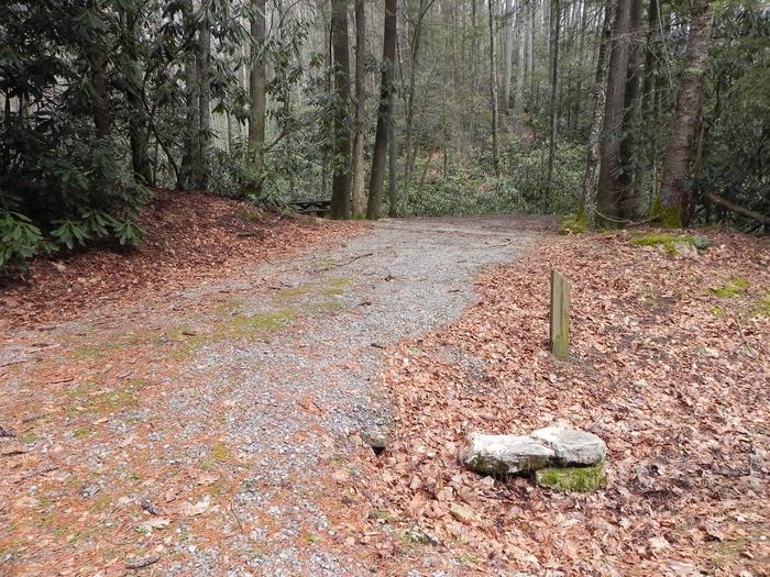 Driveway into campsiteDriveway