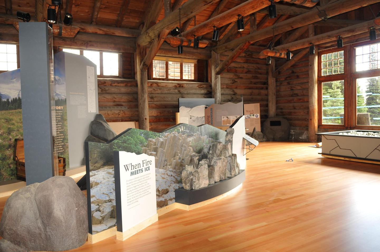 Sunrise Visitor Center ExhibitsExplore the geology, glaciers, and subalpine environment of Sunrise and learn about the tribes that use this area inside the Sunrise Visitor Center.