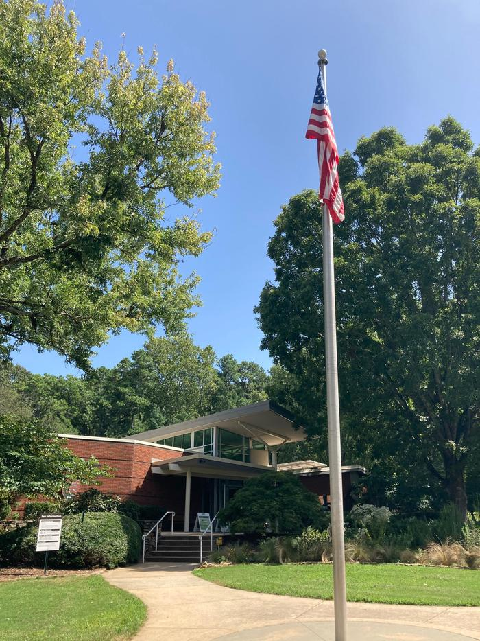Stars and StripesThe American flag flies proudly every day over the Visitor Center