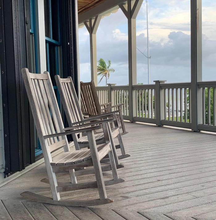 Visitor Center Rocking ChairsRelax in one of the rocking chairs on the porch.