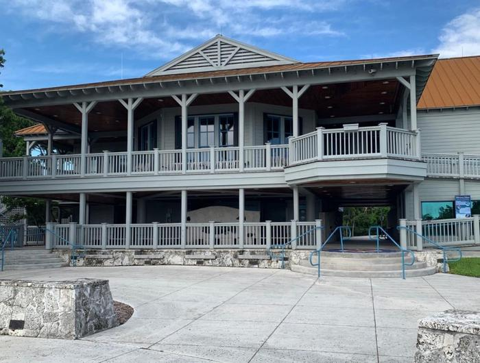 Dante Fascell Visitor CenterThe visitor center offers a panoramic view of Biscayne Bay from the second floor porch.