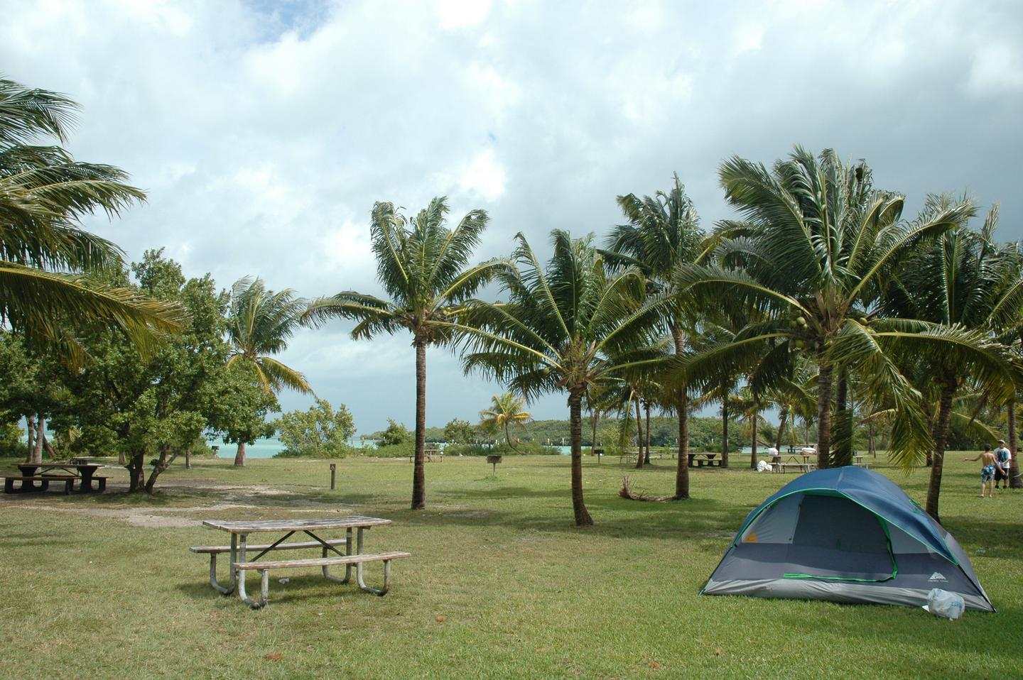 Boca Chita Key campgroundCamping with a view of the Atlantic Ocean on Boca Chita Key