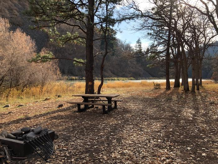 Upper Klamath CampgroundView of empty campsite at Upper Klamath Campground