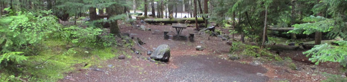 Picnic TablePicnic table and tent area