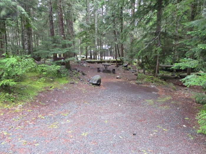 DrivewayDriveway and picnic table