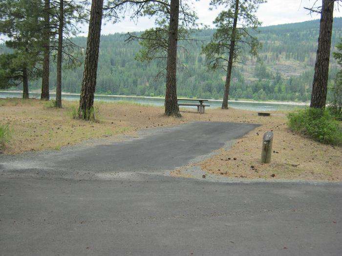 Site 38Site 38, Back in, Trees and Lake in Background