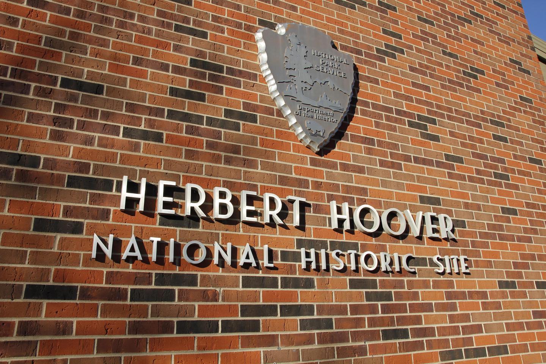 Entrance Façadentrance facade to the visitor center at Herbert Hoover NHS