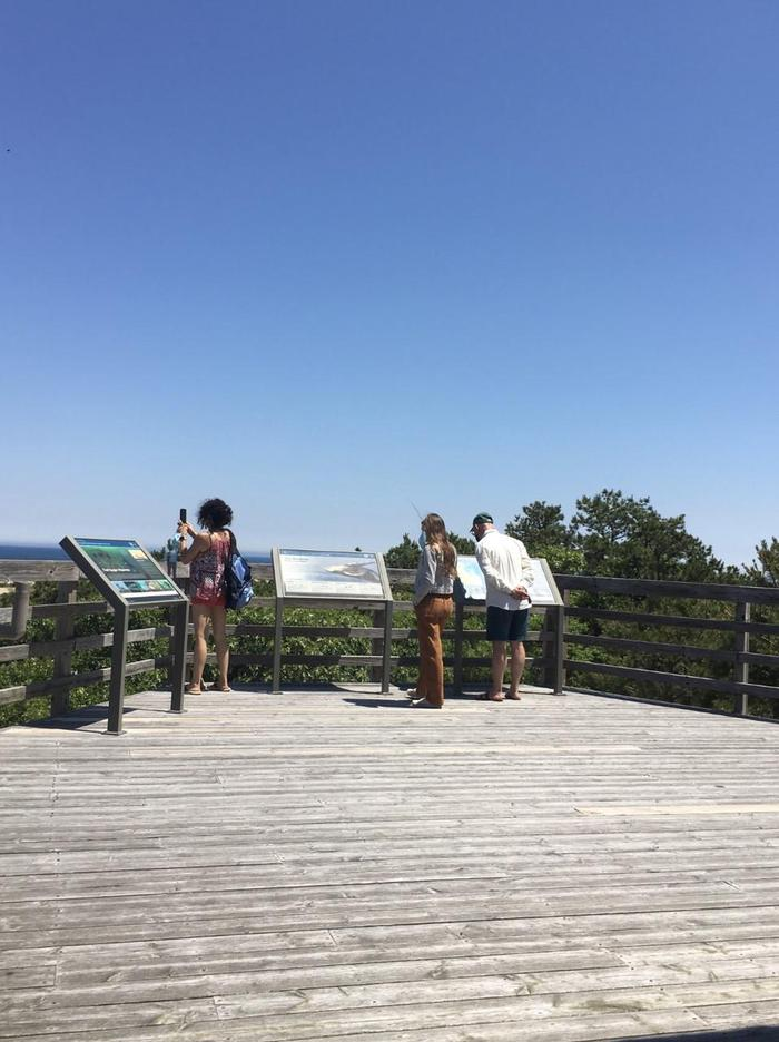 Province Lands Visitor Center DeckObservation decks with exhibits and dune and ocean views are open year-round.