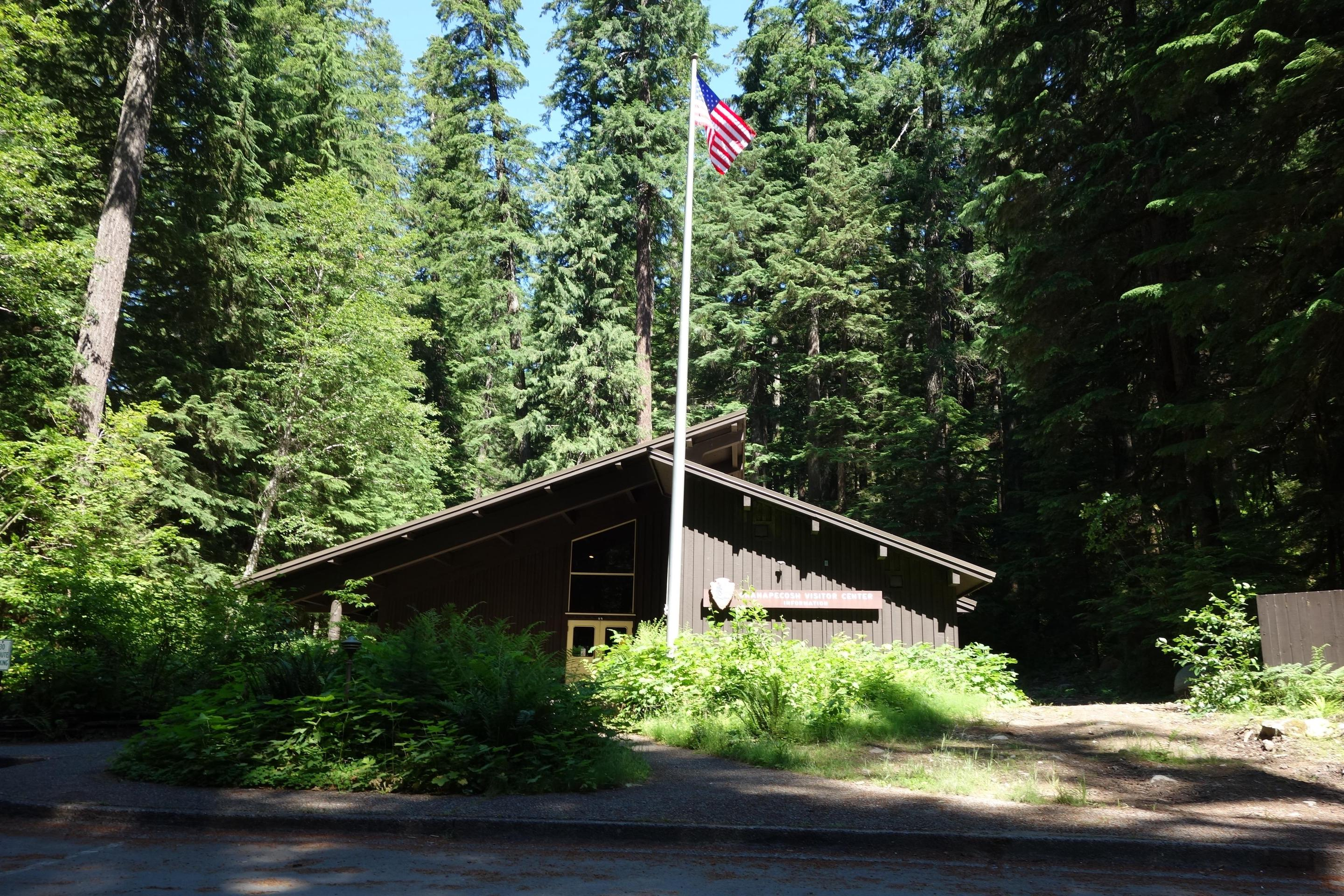 Ohanapecosh Visitor CenterThe Ohanapecosh Visitor Center has thousands of visitors per year who flock to the area to see the old-growth trees and learn more about the park.