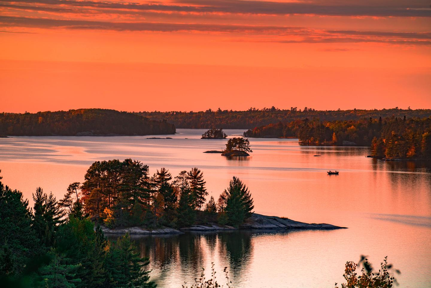 Sunset in VoyageursEnjoy a sunset in Voyageurs National Park.