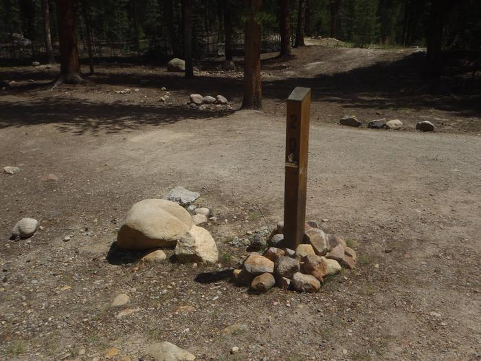 Father Dyer Campground, Site 20 marker