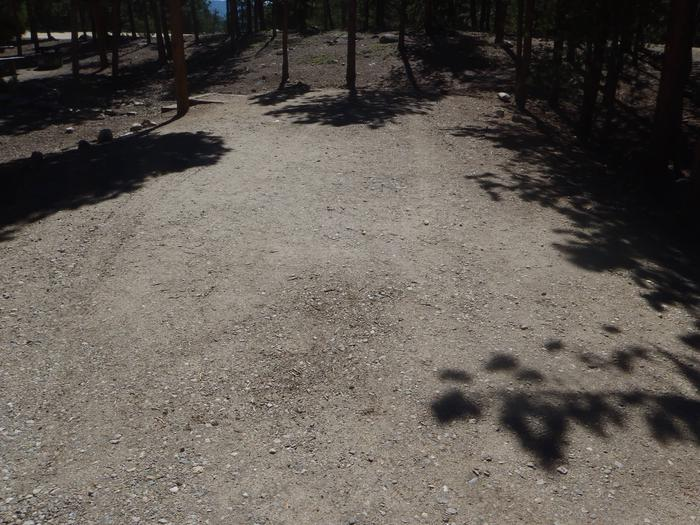 Lakeview Campground, Site A2 parking