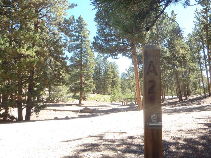 Lakeview Campground, Site A2 marker