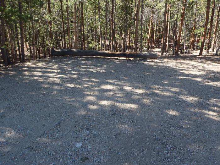 Lakeview Campground, site A13 parking