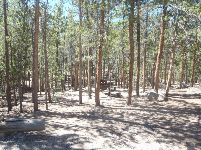 Lakeview Campground, site A13 view