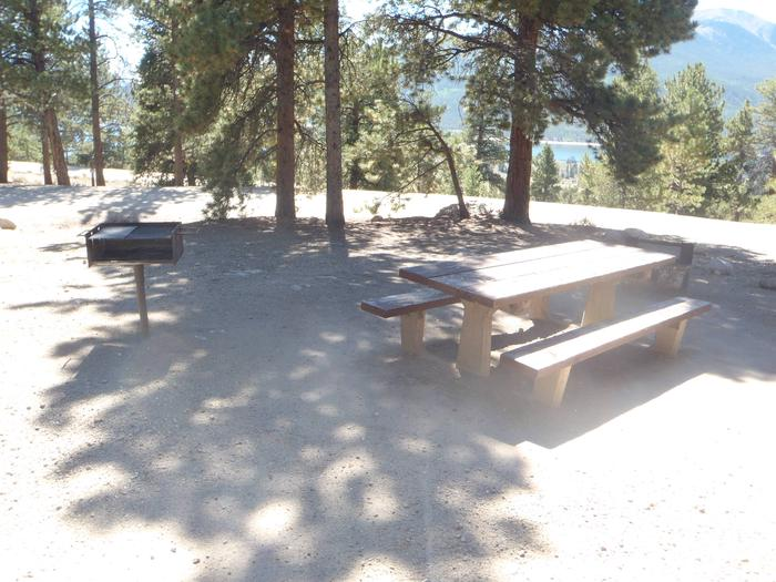 Lakeview Campground, site B4 picnic table and grill