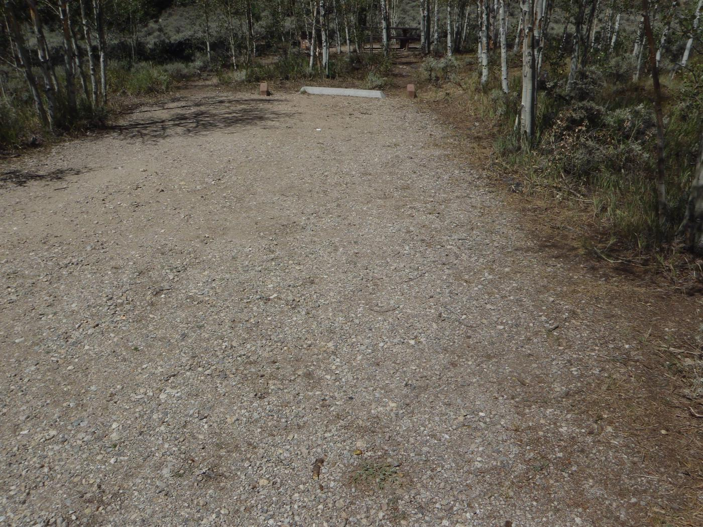 Lakeview Campground, site E12 parking