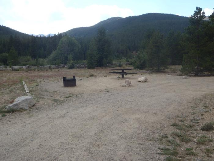May Queen Campground, site 12 picnic table and fire ring 2