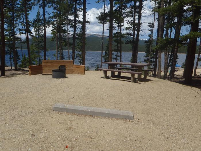 Molly Brown Campground, site 6 picnic table and fire ring 3