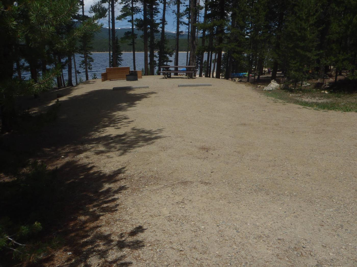 Molly Brown Campground, site 6 parking