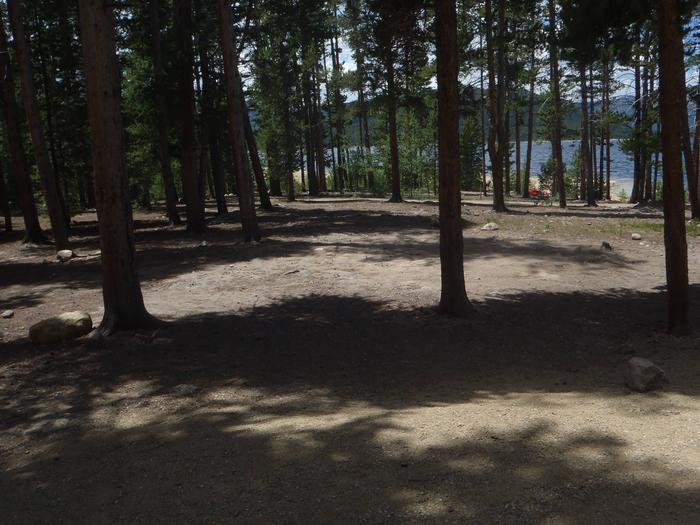 Molly Brown Campground, site 6 clearing