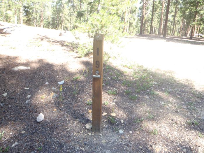 Molly Brown Campground, site 19 marker