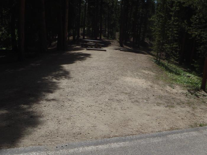 Molly Brown Campground, site 20 parking