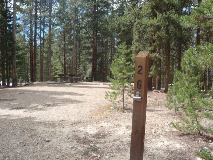 Molly Brown Campground, site 26 marker