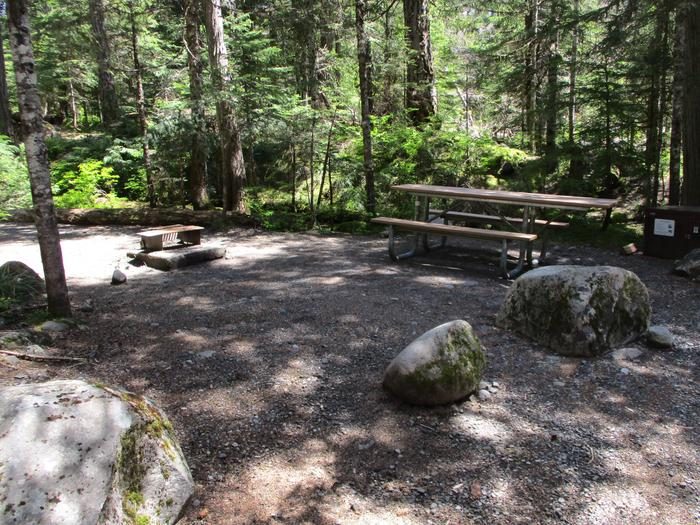 Picnic Table, Fire ring and Bear box