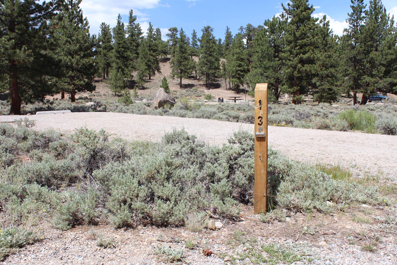 White Star Campground, site 13 marker