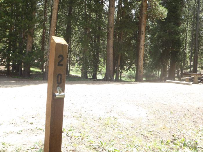 Molly Brown Campground, site 20 marker
