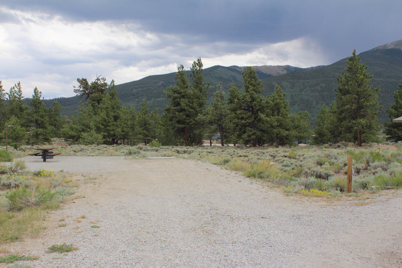 White Star Campground, site 20 parking