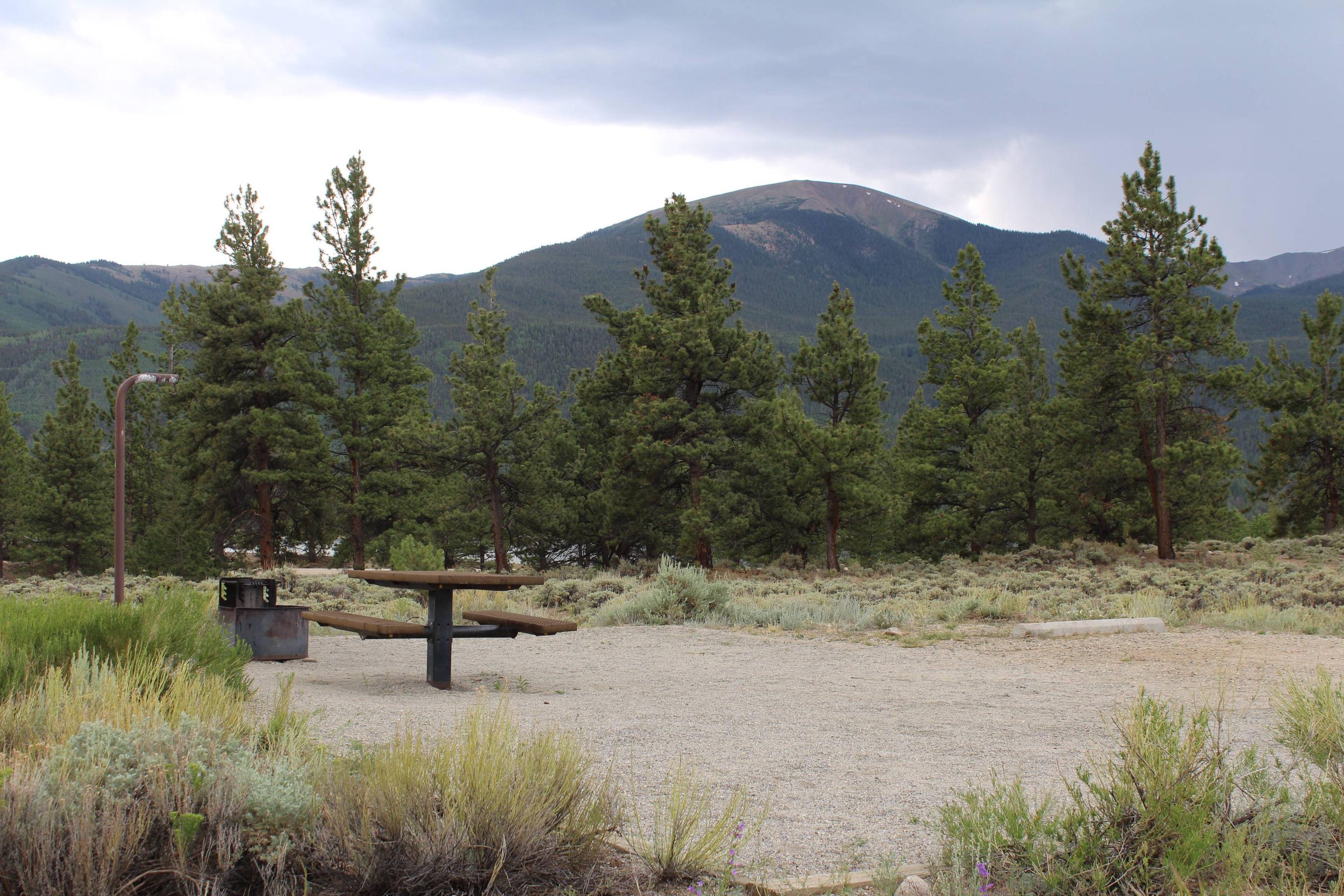 White Star Campground, site 20 picnic table and fire ring 2