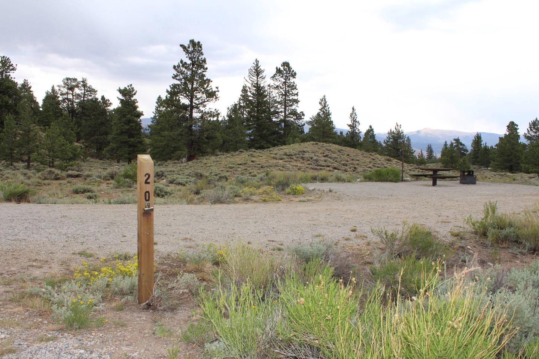 White Star Campground, site 20 marker 2