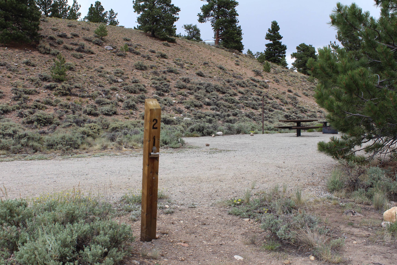 White Star Campground, site 21 marker 2