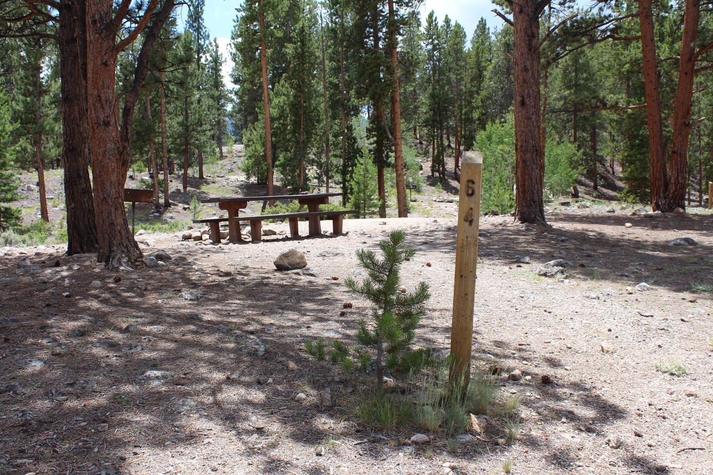 White Star Campground, site 64 marker