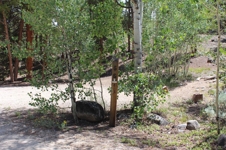 White Star Campground, site 66 marker 2