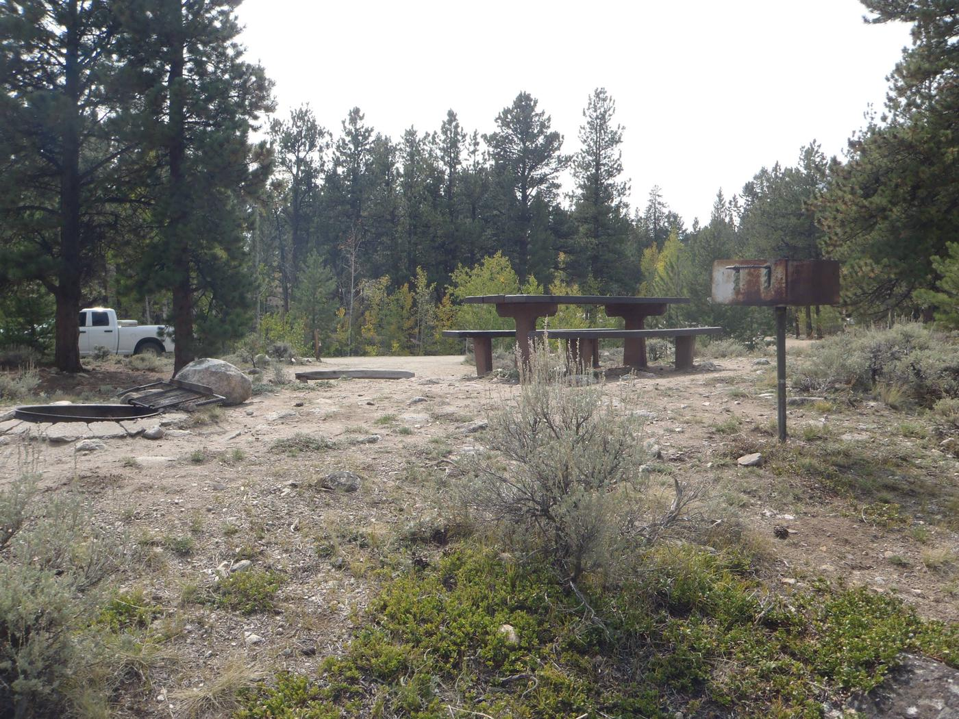 White Star Campground, site 47 picnic table